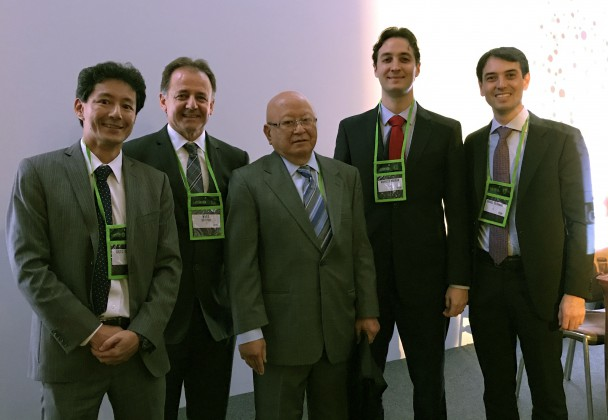 Participantes da mesa de Rinoplastia, Dr. Luiz Carlos Ishida, Dr. Niveo Steffen, Dr. Jorge Ishida, Dr. Marcelo Wulkan e Dr. Rafael Tutihashi