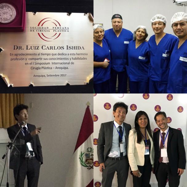 Dr. Luiz Carlos Ishida participou do I Simpósio de Cirurgia Plástica de Arequipa discorrendo sobre temas em Rinoplastia